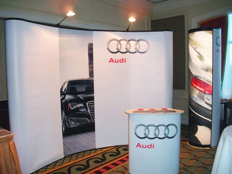 Audi indoor setup