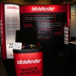 Bitdefender - Pop Up with Backlit Bubble Panel with Full Color Case Wrap and Table Cover