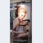 2) Retractable Banner Stand w/ Light