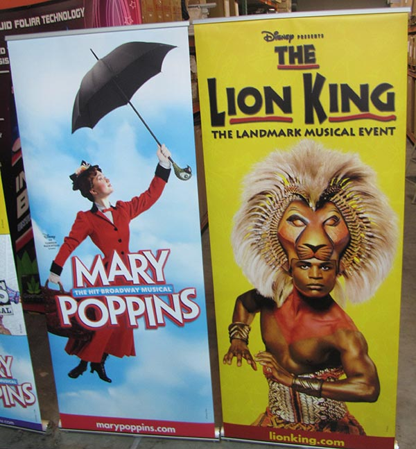 ExhibitDEAL banner wall for Disney Theatre