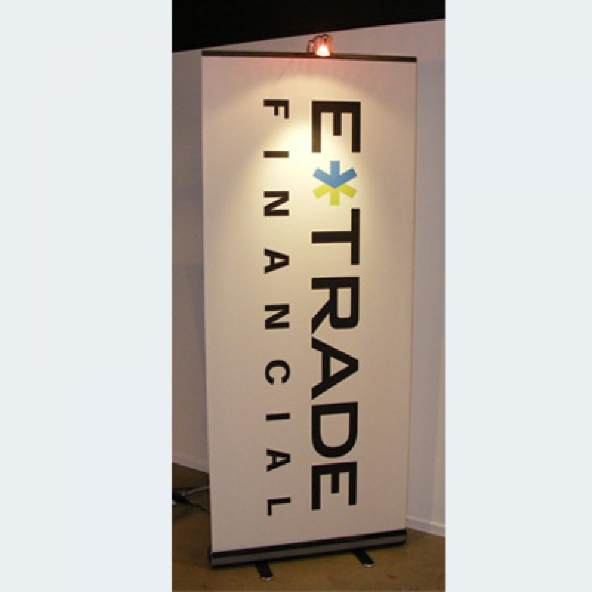 3) Retractable Banner Stand w/ Light
