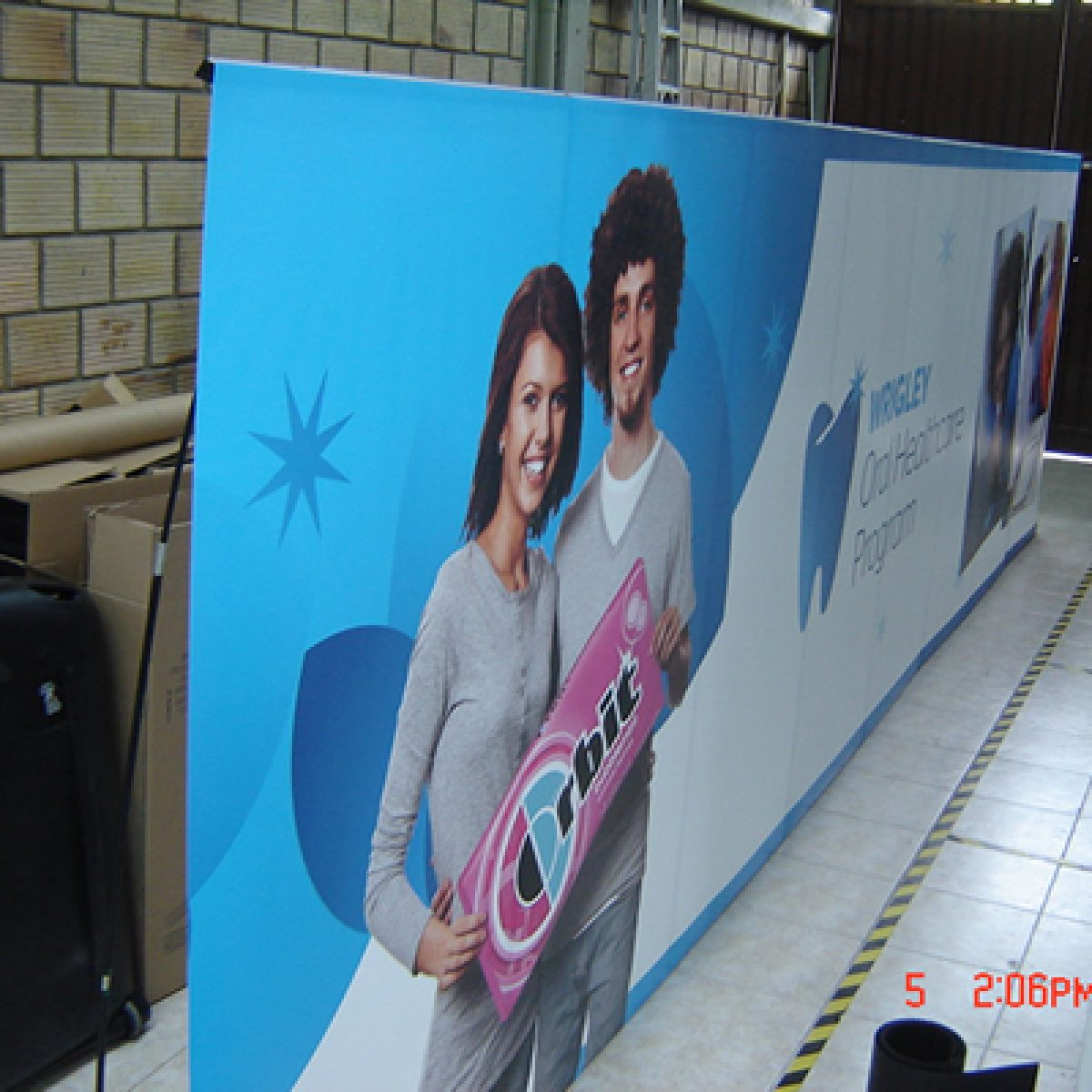 8) 20ft Retractable Banner Wall
