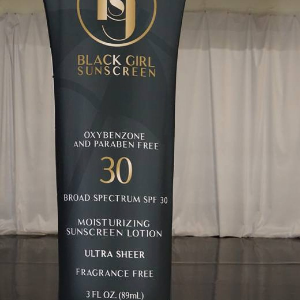 9) Black Girl Sunscreen Tension Fabric Banner Stand - 1