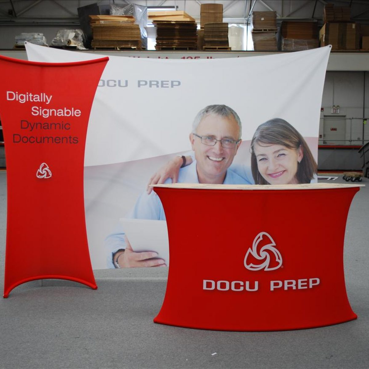 1) Tension Fabric Displays