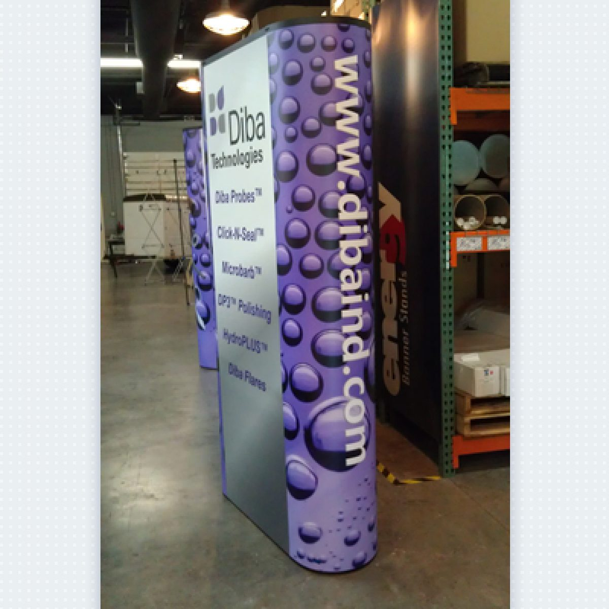 12) 6ft Popup Standee w/ End caps